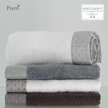 CAMILLA set 2+2 asciugamani spugna di puro cotone Pretti