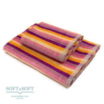 CARAIBI Set Asciugamani 1+1 spugna di puro cotone