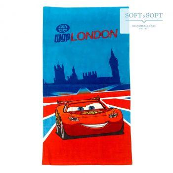 CARS LONDON Telo Mare Bambino Spugna di Cotone 75x150