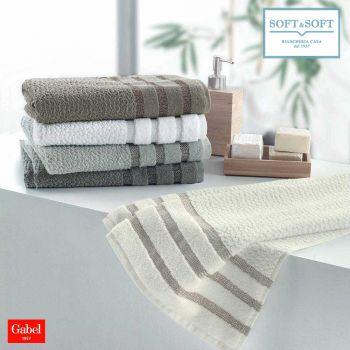 CHROMO Coppia asciugamani 1+1 jacquard 500 gr/m² Gabel