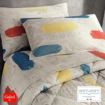 CITYCOLORS completo lenzuola letto SINGOLO madapolam puro cotone GABEL-Multicolor