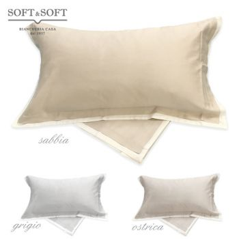 COCO Pillowcases Pair in Pure Cotton Satin 3 Valance