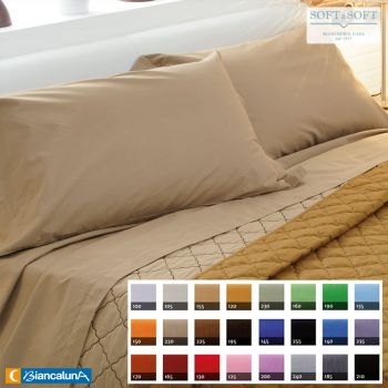COLORED Flat Sheet for THREE QUARTER Bed Size BIANCALUNA