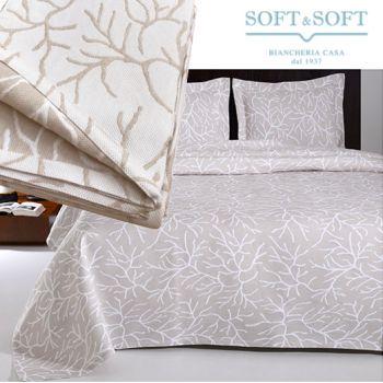 CORAL single bedspread in jacquard matelassé fabric cm 170x260