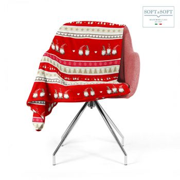 CREOLO plaid natalizio per letto o divano caldissimo morbidissimo 130x160