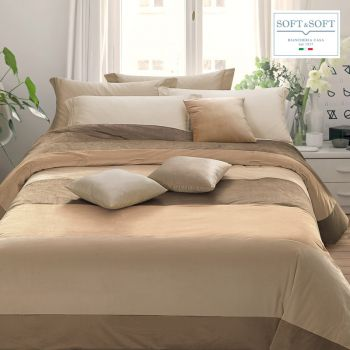 DIVA V1 winter quilt in patchwork velvet DOUBLE 265x265 GFFERRARI
