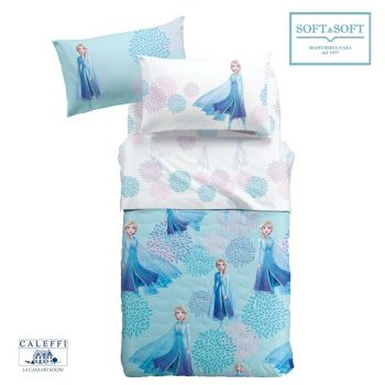 ELSA BLU Quilted Bedcover THREE-QUARTER Bed Size by Disney CALEFFI