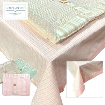 ETE Table Cloth for 12 People cm 140x240 Shabby Chic