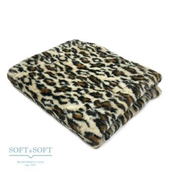 FUR GIAGUARO eco fur plaid cm 130x160