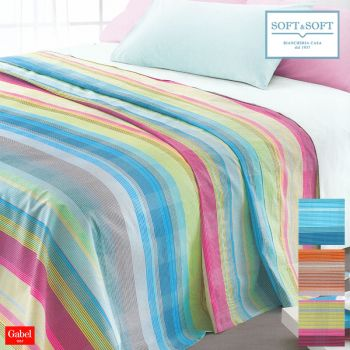 GRAFISMI Pure Cotton Piquette Bed Cover for single Bed by GABEL