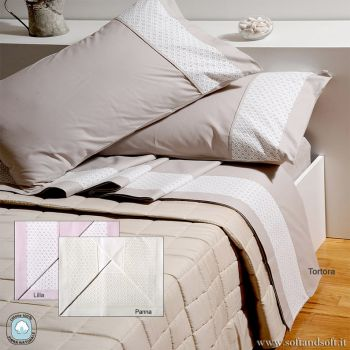 SANGALLO NADINE Winter Sheet Set for Double Bed in Cotton Flannel
