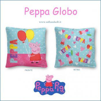 PEPPA PIG GLOBO Cuscino Arredo cm 40x40