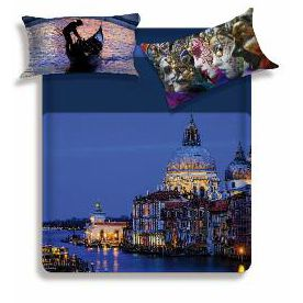 MISS TERRY CANAL Duvet cover for double beds Biancaluna