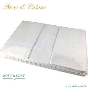 PURE RASO Sheet set double bed in pure cotton SATIN