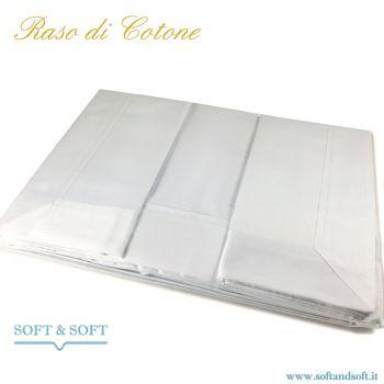 PURO RASO Completo lenzuola letto matrimoniale in RASO di Puro Cotone