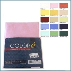 Solid Fitted sheet with corners for single beds - Colorè