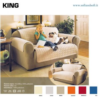 KING Quilted Three-place Sofa Cover