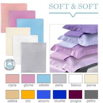 SOFT&SOFT Pure Cotton Sheet Set for Double Bed Plain Colour