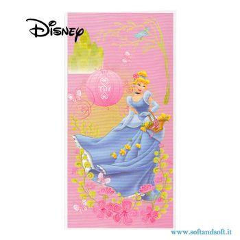 CINDERELLA Princess Beach Towel cm 75x150 Disney for beach and pool