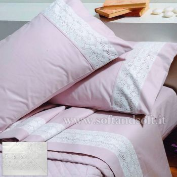 NADINE SANGALLO Pure Cotton Sheet Set for Double Bed