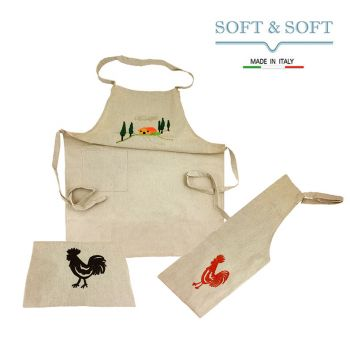 FARM Apron for kitchen with pocket