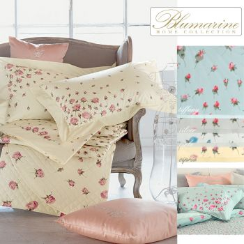 BLUMARINE ILARIA Percale Sheet Set for Double Bed cm 270x290
