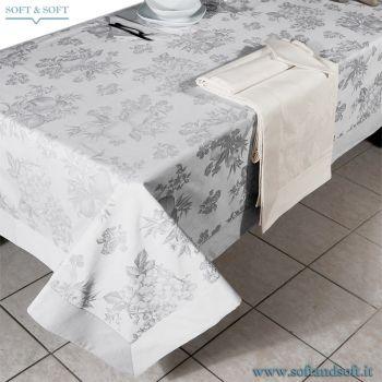 FIANDRA FRUTTA Tablecloth in Satin Cotto for 12 people + 12 Napkins