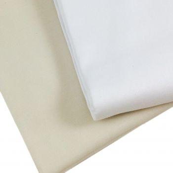 COCO Lenzuolo da sotto con elastico MAXI CM 180X200+30 Letto Matrimoniale Raso di Cotone