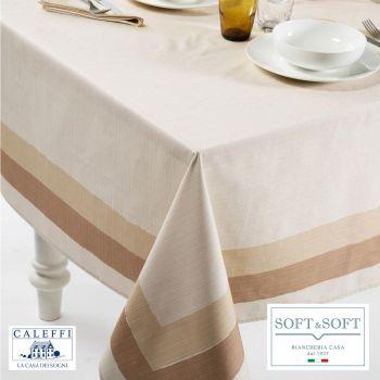 ITALY tovaglia cucina cm 150x240 in puro cotone-Naturale