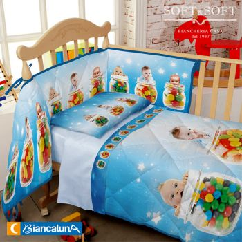 LEIN Comforter and Bumper for cots by  BIANCALUNA