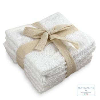 LOVELY set 6 lavette bianche spugna di puro cotone 30x30
