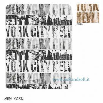 NEW YORK Plaid Pile cm 130x160  Grigio
