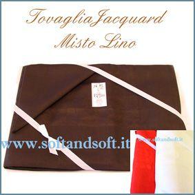 COCCO Table cloth 8 cm 180x220 LINEN BLEND- Emilio Gatti LARGE