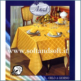 ROMINA Satin Tablecloth for 12