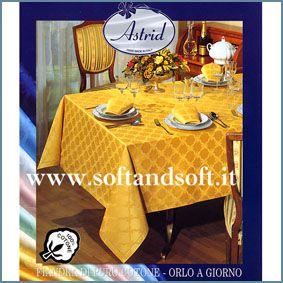 ROMINA Satin Tablecloth for 8 - oval