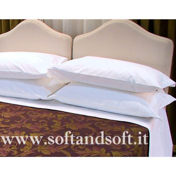 SOFFIO flat sheet for three-quarter bed cm 180x300 pure cotton Made in Italy