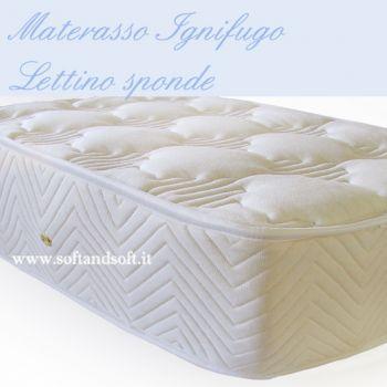 Materasso per lettino con le sponde cm 60x125  IGNIFUGO