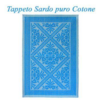 LANUSEI Tappeto Sardo cm 60x90 Turchese