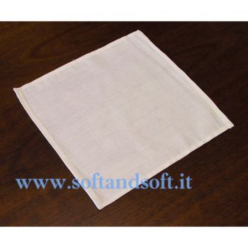 White Napkin cm 40x40 Linen Blends