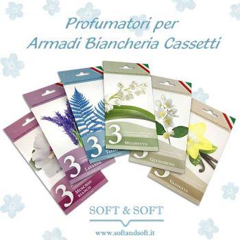 PROFUMATORI per Armadi Biancheria Cassetti (3 PEZZI)