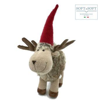 RUPERT renna decorazione natalizia cm 42 (h)