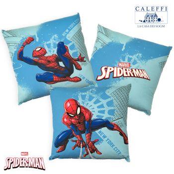 SPIDER-MAN MANHATTAN Cuscino Arredo cm42x42 Disney CALEFFI