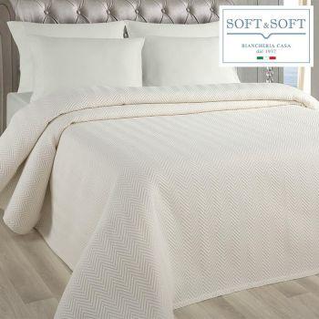 SPINA copriletto MATRIMONIALE in tessuto jacquard matelassè cm 260x260