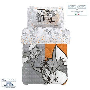TOM&JERRY trapunta invernale cotone SINGOLA 170x265 CALEFFI