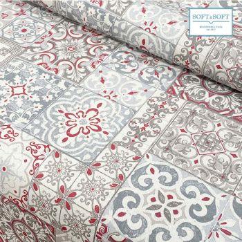 tessuto maiolica rosso