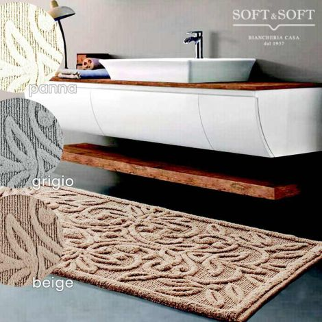ADHANA bath carpet Jacquard anti slip cotton cm 70x130