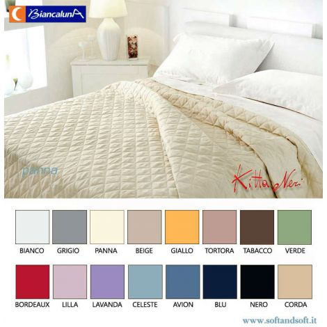 Trapuntino Bianco Matrimoniale.Online Sale Anais Cotton Satin Quilted Bedcover For Double