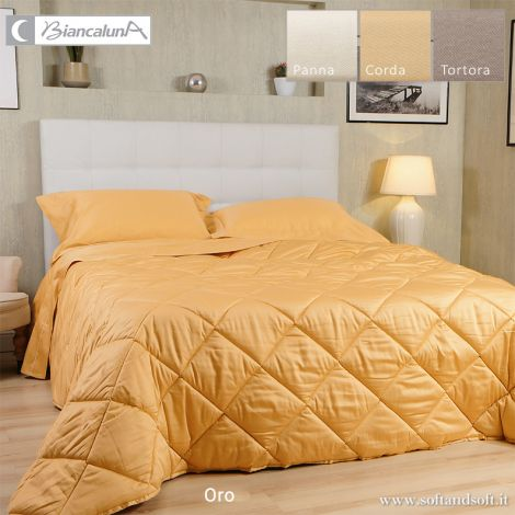 ANAIS Cotton Satin Quilt for Double Bed by BIANCALUNA