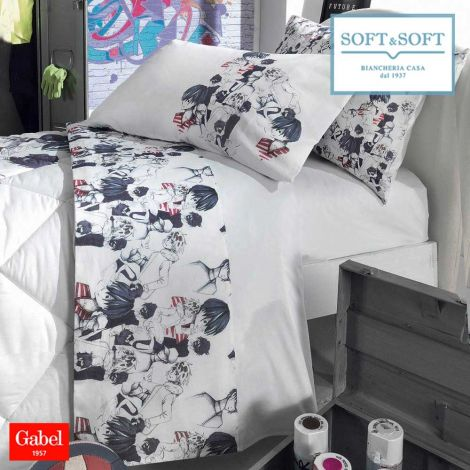 ANIME single size bed set in Gabel cotton