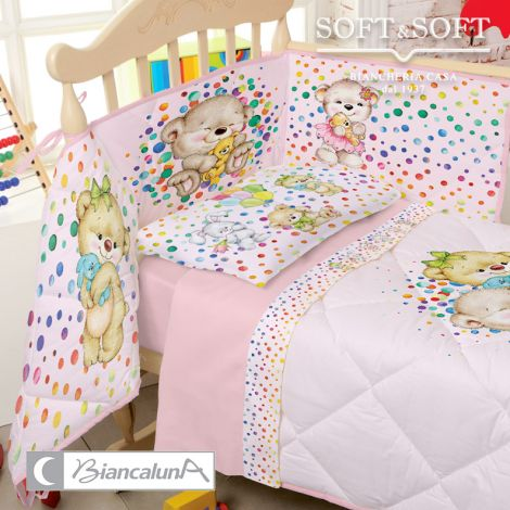 ASHLEY Sheet Set for Cots MISS TERRY BIANCALUNA
